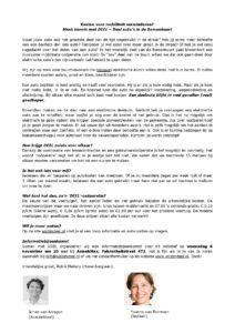 Informatiebijeenkomst in de Bomenbuurt op 6 november