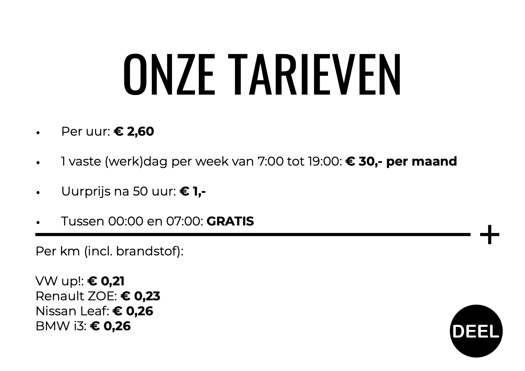 Tarieven DEEL Den Haag Bomenbuurt